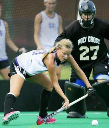 Recent Lincoln-Sudbury grad Lauren Sutherland, a Globe All-Scholastic field hockey player, is now a freshman player at Holy Cross.